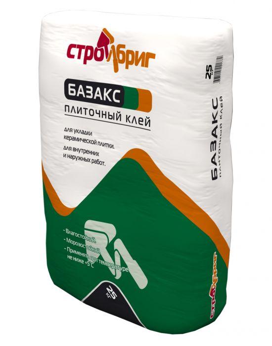 Стройбриг Базакс - плиточный клей для керамической плитки и керамогранита (25 кг)