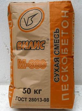 Пескобетон «Вилис» М-300 (40; 50 кг)
