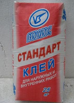 """Плиточный клей """"Вилис-Стандарт"""" (25 кг)"""