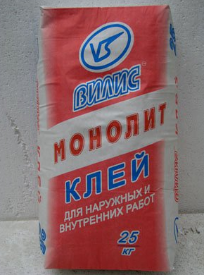 """Клей для тяжёлых плит """"Вилис-Монолит"""" (25 кг)"""